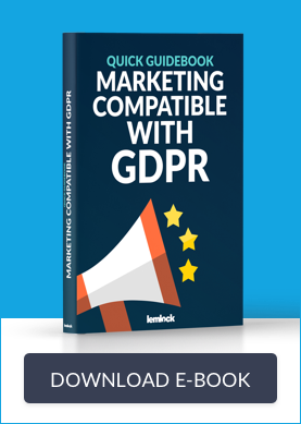 photo of the ebook GDPR for marketing cover